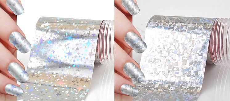 Lot Galaxy 190designs Foil For Nails Transfer Foil Sequins Adhesive