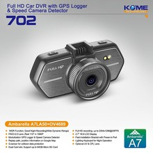 hot kome 702 vision drive car recorder dvr night vision car kit drive cam recorder mini video recorder security system new 2014