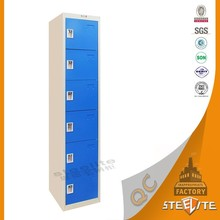 Metal bedroom design / steel locker clothes wardrobe with 6 doors