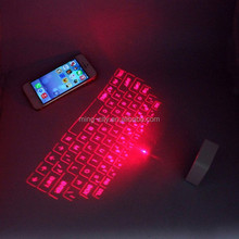 New and hot selling Mini bluetooth wireless laser keyboard with mouse function for Iphone6, samsung, huawei,xiaomi,htc