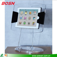 Fashionable Multi-Angle Desktop Clear Acrylic Stand for iPad acrylic tablet pc display stand
