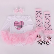 R&H unique cute soft breathable low price girls only love dress
