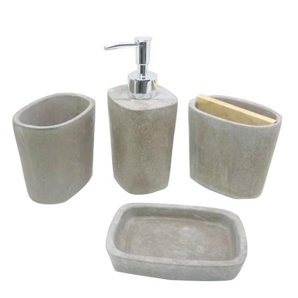 Eac0033 salle de bains pierre naturelle accessoires de for Accessoire salle de bain porte savon