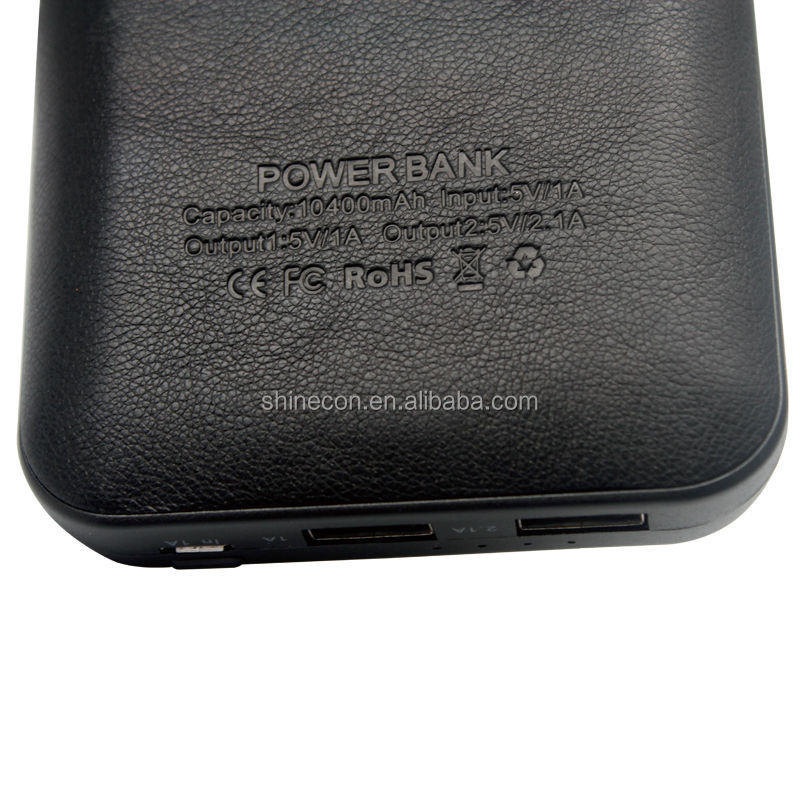 Shinecon New power bank leather cover mobile power bank
