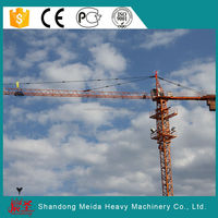 Meida brand tower crane with SGS/CE/ISO, 150m max height 56m jib length 5610 construction fixed tower crane
