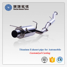 Hot sale titanium 90 degree bend es c180 tail car exhaust pipe motorcycle, tips w204