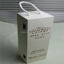 with cotton rope reusable wine paulownia box