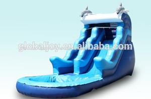 Venda quente do lago escorregas insufláveis/barato banzai escorrega inflável/usado corrediça inflável da água para a venda