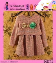 2015 venta al por mayor Boutique tienda del bebé caliente de la venta otoño nuevo diseño más barato vestido de Crochet para el bebé