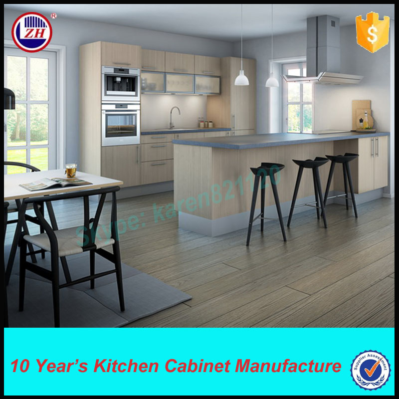 Wall Hanging Simple Pvc Kitchen Cabinets With Glass Door
