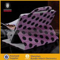 fluffy polka dot Handbag Case for iPad 2 3 4