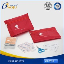 ISO CE Approval economical standard promotion nylon mini first aid kit bag