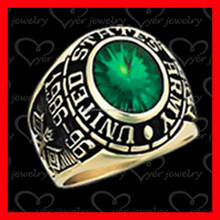 2015 hot sale China manufacturer 925 sterling silver military ring for memory