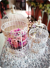 White Birdcage Hanging Birdcages Decorative Bird Cages For Weddings