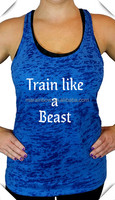 Bulk wholesale Women's workout Burnout Racerback Fitness, gym & Yoga stringer printingTank Tops