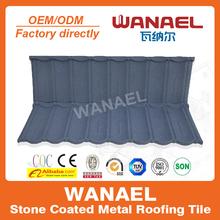 Wanael Bond 1340x420mm anti-ultravioleta revestido Costo de techos de metal lascas