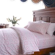 king size applique colorful stripe cotton bed sheets