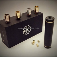 OUMIER 2015 Top Design! Full Mechanical Dual Battery Atomizer Mod Devils Disciple Double 18650 Mod Petri Atty Rda In Stock
