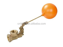 Water Tank Forged Brass Float Valve with Plastic Ball