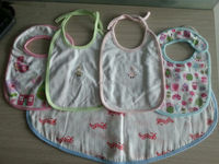 Super Soft 100% Cotton Muslin Bibs