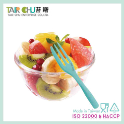 Colorful Fork Plastic Fruit Pick