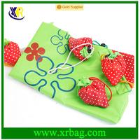 China Manufacturer Wholesale Cheap Custom Logo Print Cute Drawstring 190T Polyester Reusable Foldable Shopping Tote Bag