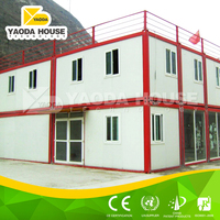 Light steel frame flat pack low cost prefab container house