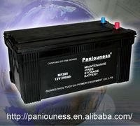 12V 200Ah car and truck battery(JIS)