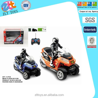 New motorcycle toy 1:10 three wheel concept rc motorcycle toy with orange/blue 2 color