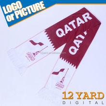 Qatar printed sublimation scarf, custom-made printed shawls, viscose scarf rayon shawl