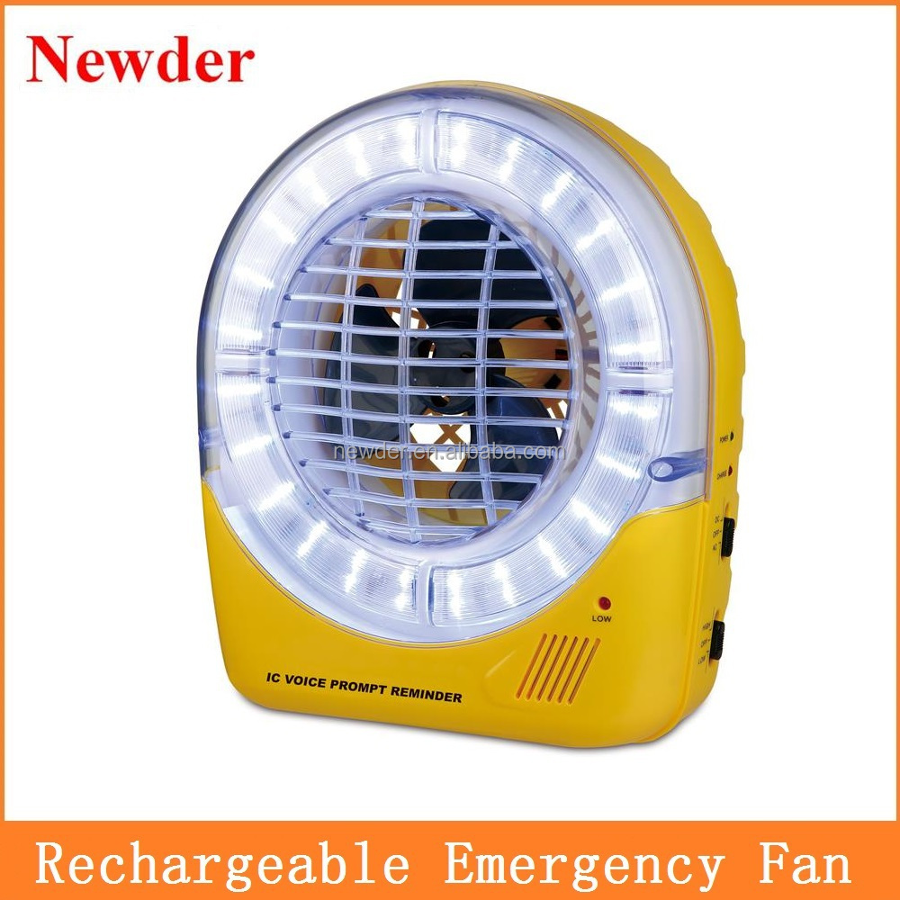 Battery Operated Desk Fan : Quot rechargeable battery operated emergency fan ac dc table