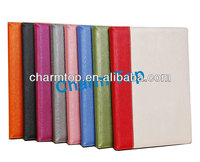 Contrast Color Wood Leather Stand Case For iPad Air