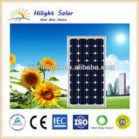 Marketable 145W monocrystalline solar module with TUV, IEC, CE, ISO