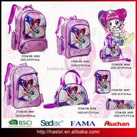 2015 fama audit factory new design kids school bag girl