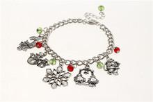 2014 wholesale fashion new style christmas ornament charm bracelet
