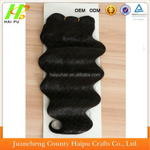 2015 New Product 12Inch Loose Deep 1B# Human Hair Mixed Synthetic Hair Extension In Stock