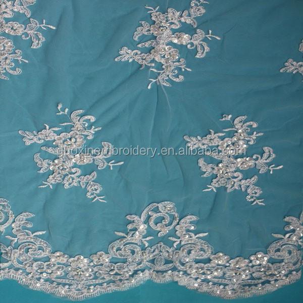 2015 broderie saree fronti re dentelle tissu pour robe de
