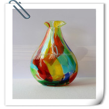 Best selling handmade murano glass and colored vase art