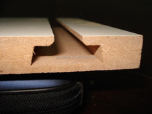 Low price slat board from mdf manufacturer