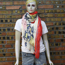 plain cheap world map printting scarf wholesale print scarf for ladies