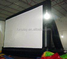 NEW!! HI CE high quality 0.55m pvc inflatable movie screen for event,used inflatable movie screen,inflatable advertising screen