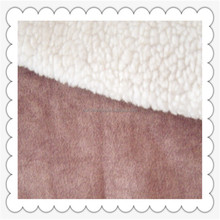 suede fabric with faux lamb fur coated for ugg