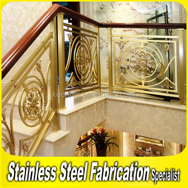European style Decorative Indoor Stair Aluminum Handrail
