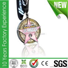 High quality zinc alloy competitive enamal medal