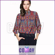2014 Moda de mujer diseño nuevo ropa de seda