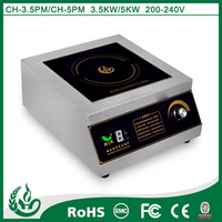 New design stianless stell high quality 3500W table top hot plate glass top