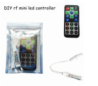 RF mini DIY RGB LED controller 12A 5~24V 3*4A for 5050 3528 LED Strip light With RF Remote Control Dimmer