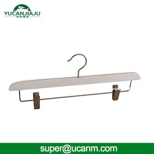 Yucan Wholesale high quality metal hook clothes pant wooden hanger
