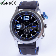 V6 Military Style silicone watches black men sport watch student boy watch