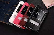 FL3587 Flip cover view window mobile phone case for Sony Z4 leather case with factory price
